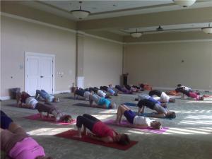 Yoga on Seabrook Island, South Carolina